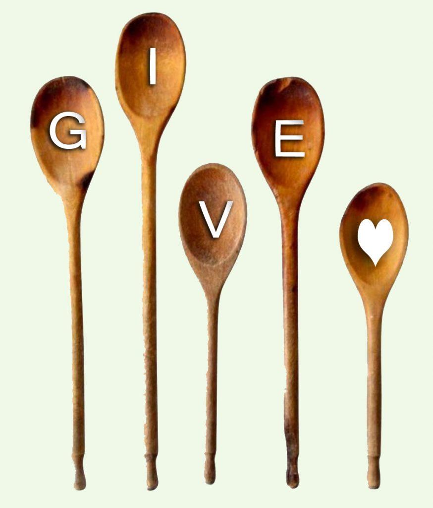 give wrtitten on spoons