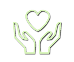 hands and heart donation