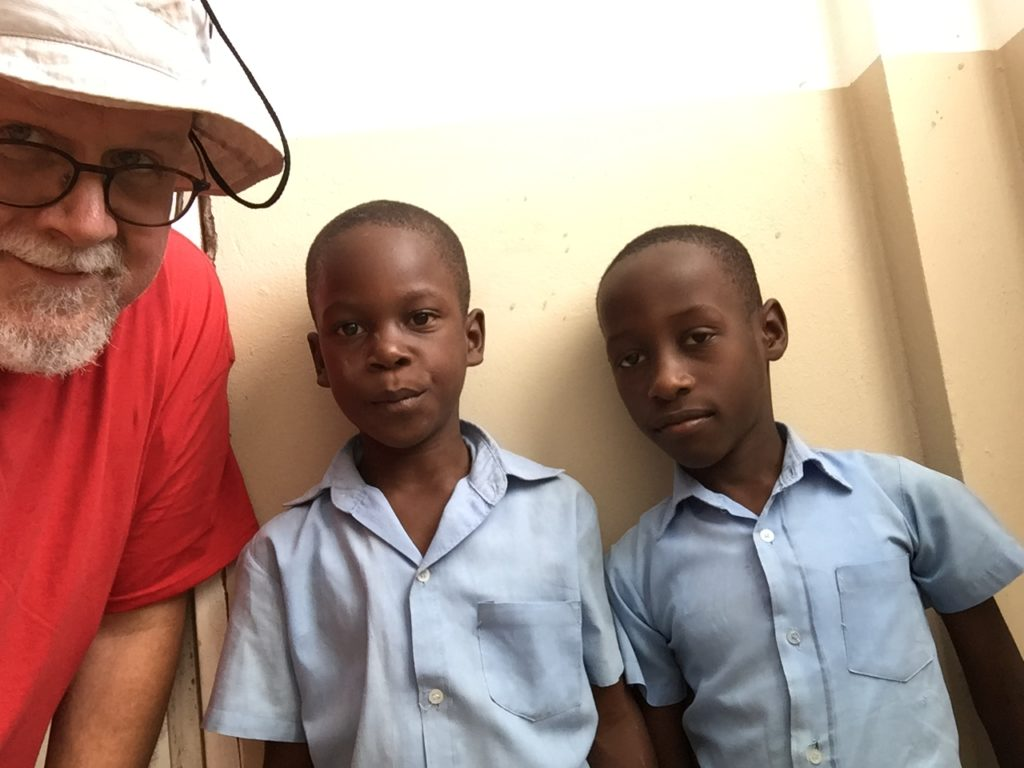 Doug and a couple of buddies in Haiti